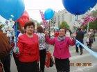 Участие в первомайской демонстрации  -  Празднование Дня весны и труда