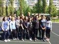 Участие в утренней общегородской зарядке  в парке Победы,  организованной управлением молодёжной политики администрации города Белгорода